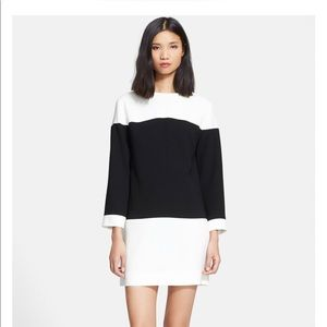 Kate Spade black white colorblock sheath dress